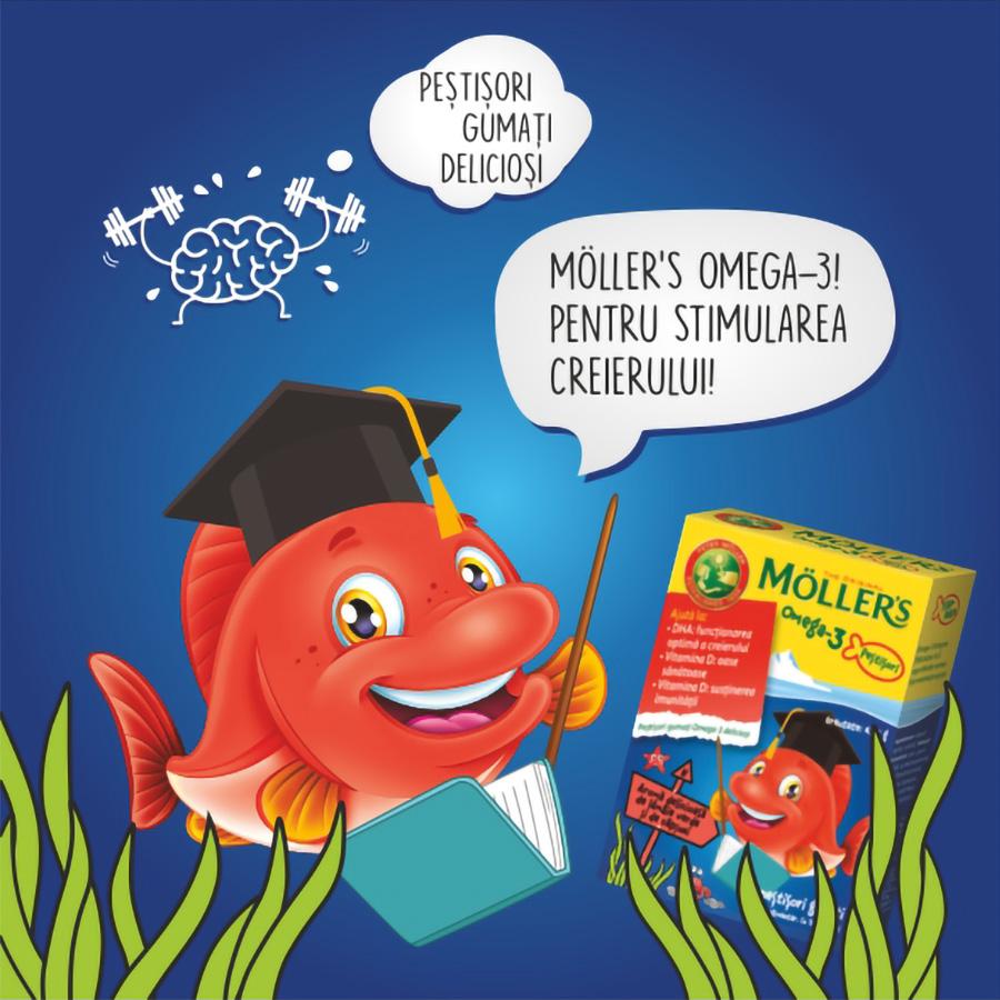MÖLLER'S Omega-3 Fishes, Căpșuni
